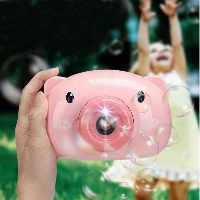 Máy ảnh thổi bong bóng xà phòng quà tặng dễ thương cho bé - may anh thoi bong bong, máy thổi bong bóng heo hồng 2