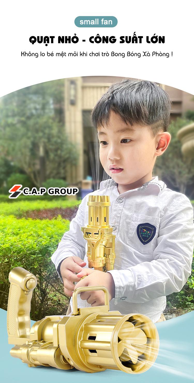 Súng máy bắn phun thổi Bong Bóng Xà Phòng ngầu 8 nòng đồ chơi ngoài trời cho bé an toàn không lo bẩn tay mới nhất HOT 2021 Dũng Dũng 1 4