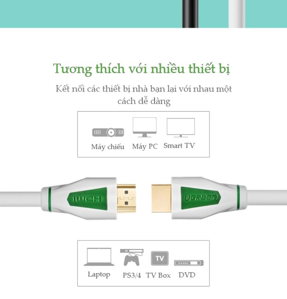 Dây cáp HDMI 1.4 4K 30Hz UGREEN HD116 thuần đồng khử Oxy hóa, dài 5m