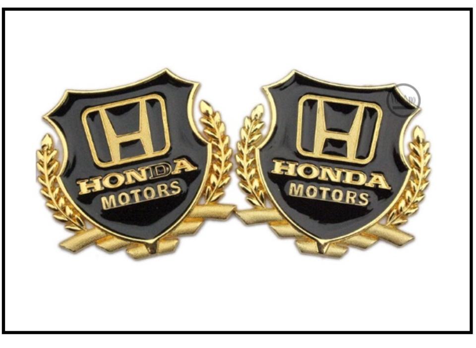 Combo 2 Logo huy hiệu VIP hoặc 1 logo đơn của hãng Honda, logo bằng nhôm mạ vàng dành cho ô tô, xe máy kích thước 5.5cm x 5.5cm 5