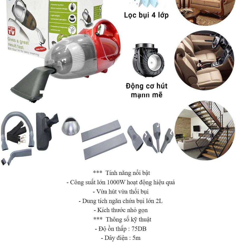 Máy Hút Bụi Cầm Tay-Máy Hút Bụi Cầm Tay Thông Minh Công Suất Lớn-Máy Hút Bụi  Gia Đình 2 Chiều Mini Vacuum Cleaner JK-8 Cao Cấp Công Suất Lớn Hút Linh  Hoạt