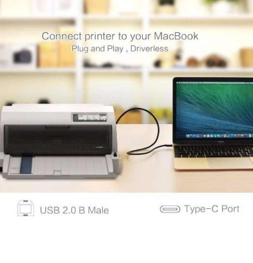 Dây USB máy in sang Type-C US152 dài 1-5M UGREEN US152