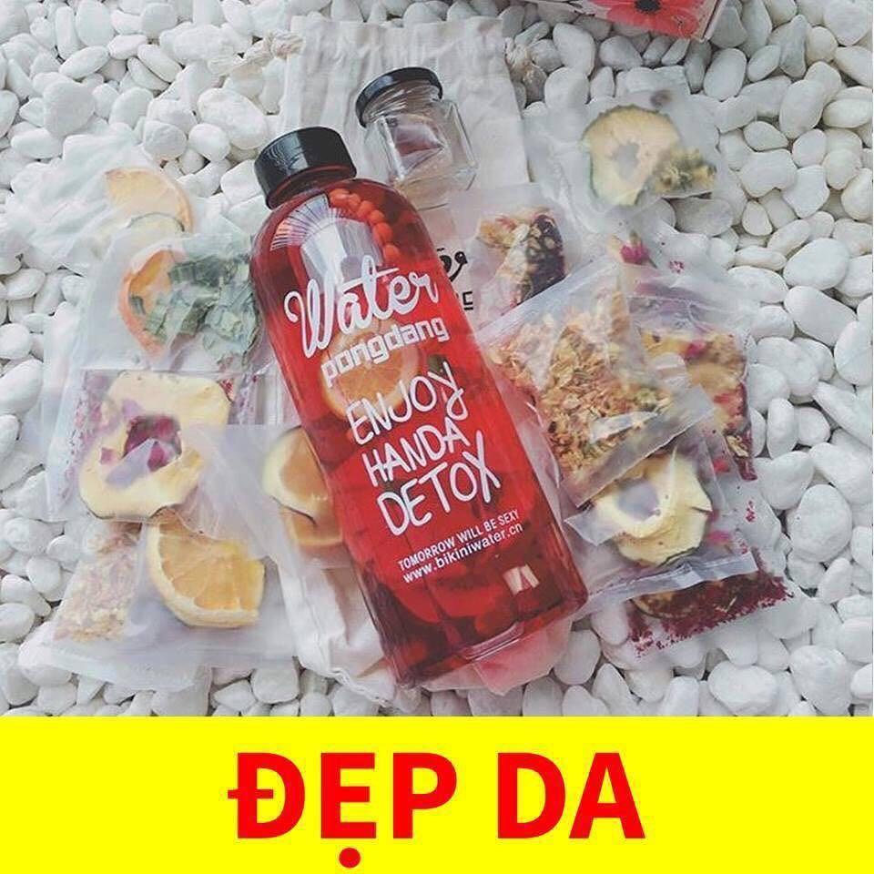 Hộp 30 Set Gói Trà Detox hoa quả sấy khô giảm cân, DETOX KOREA (ảnh thật) tặng kèm bình nhựa 1000ml - PKCB 4