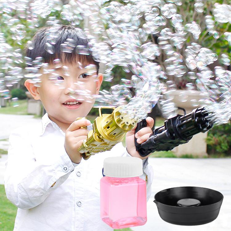 Súng máy bắn phun thổi Bong Bóng Xà Phòng ngầu 8 nòng đồ chơi ngoài trời cho bé an toàn không lo bẩn tay mới nhất HOT 2021 Dũng Dũng 1 2