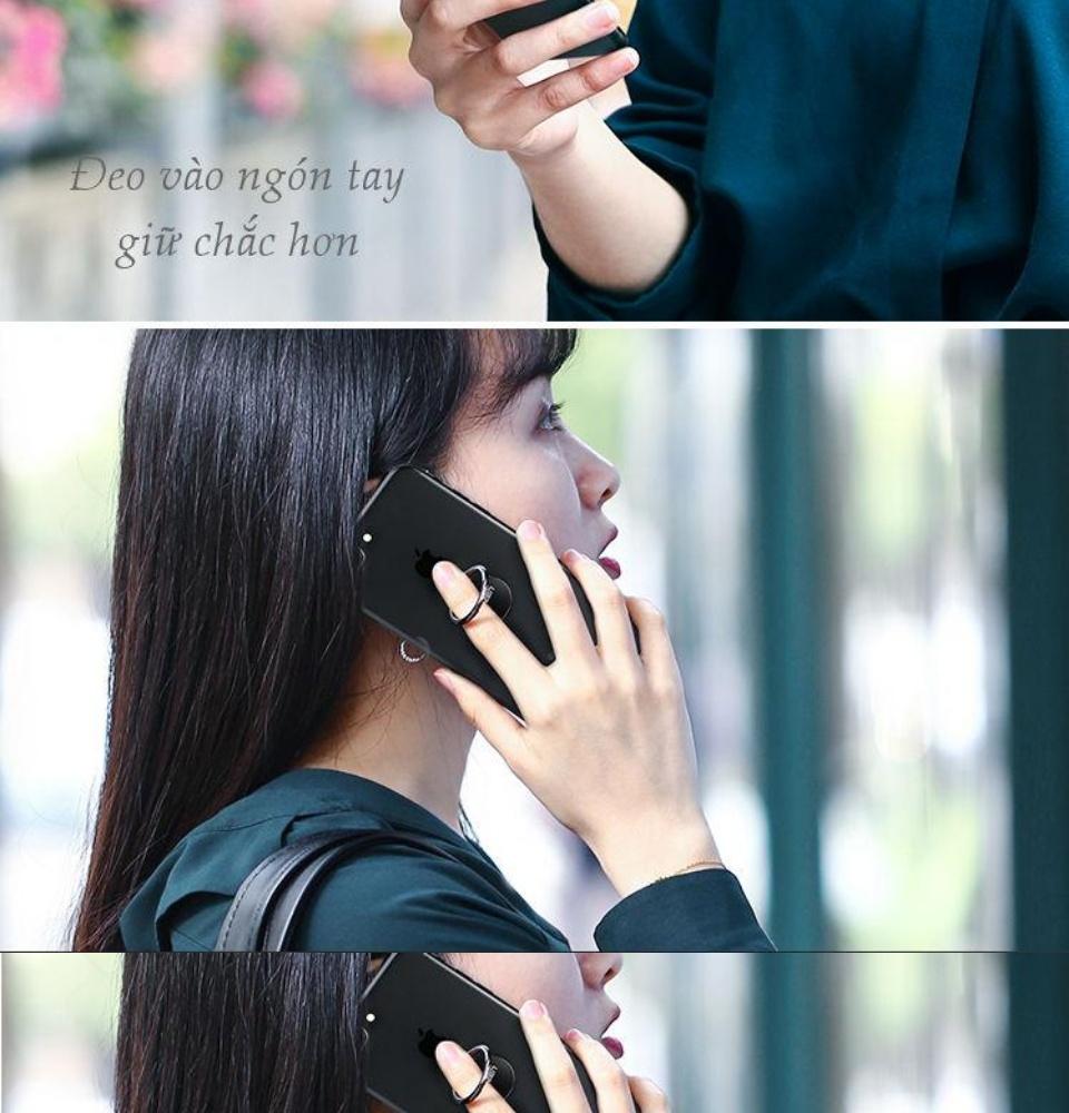 Giá đỡ điện thoại dạng vòng nhẫn có thể đeo ngón tay, đặt bàn, dày 3mm tương thích với iPhone 11 Pro Max XS XR 8 7 Plus 6 6S X 5 5S, Samsung Galaxy S10 S9 S8... UGREEN LP133 50358