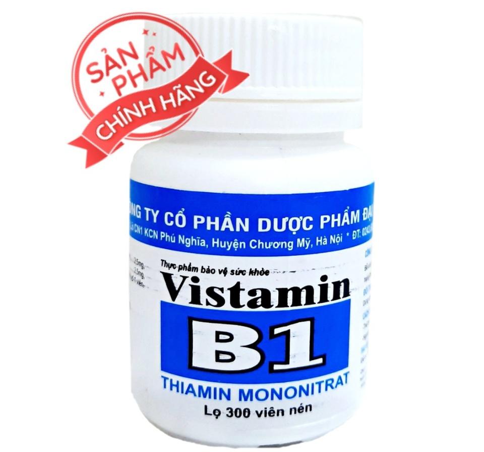 [lọ 300 viên] Viên uống Vitamin B1-giúp phòng và cải thiện tình trạng thiếu hụt vitamin B1,Hỗ trợ làm đẹp da, kích thích mọc tóc, cải thiện tóc rụng nhiều. 1