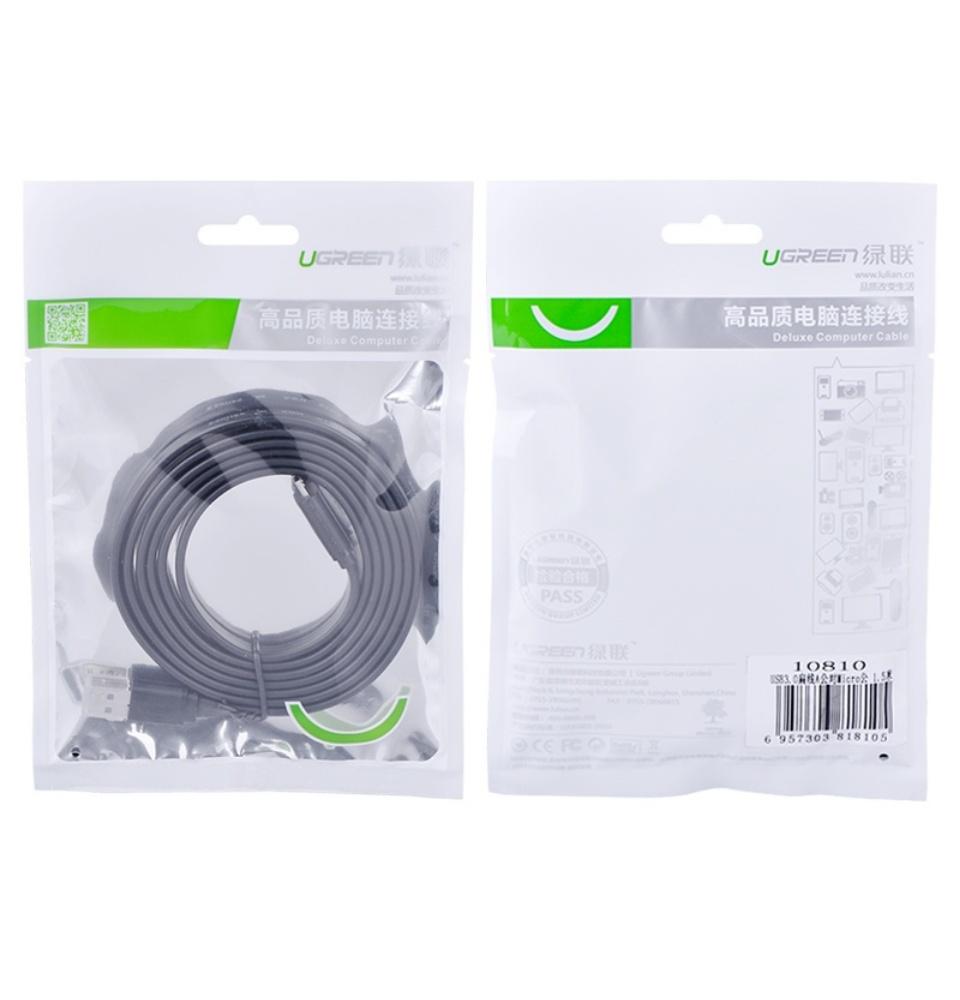 Dây cáp USB 3.0 sang Micro USB dạng dây dẹt và dây tròn 1m UGREEN US130