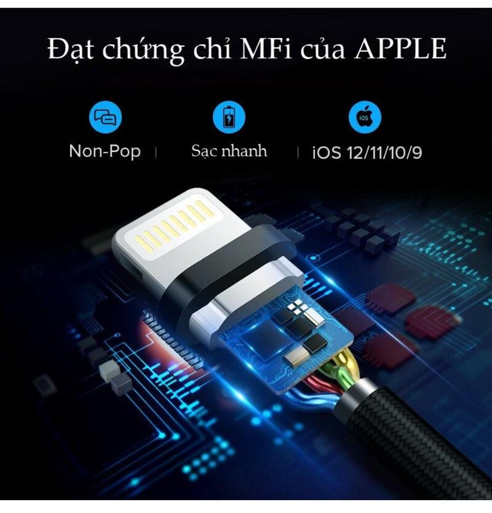 Cáp sạc iPhone Lightning MFi UGREEN US199 - Sạc tối ưu cho điện thoại iPhone 11 Pro Max / iPhone Xs Max / iPhone XR / iPhone 8 Plus / iPad / iPod dài từ 0.25m đến 2m