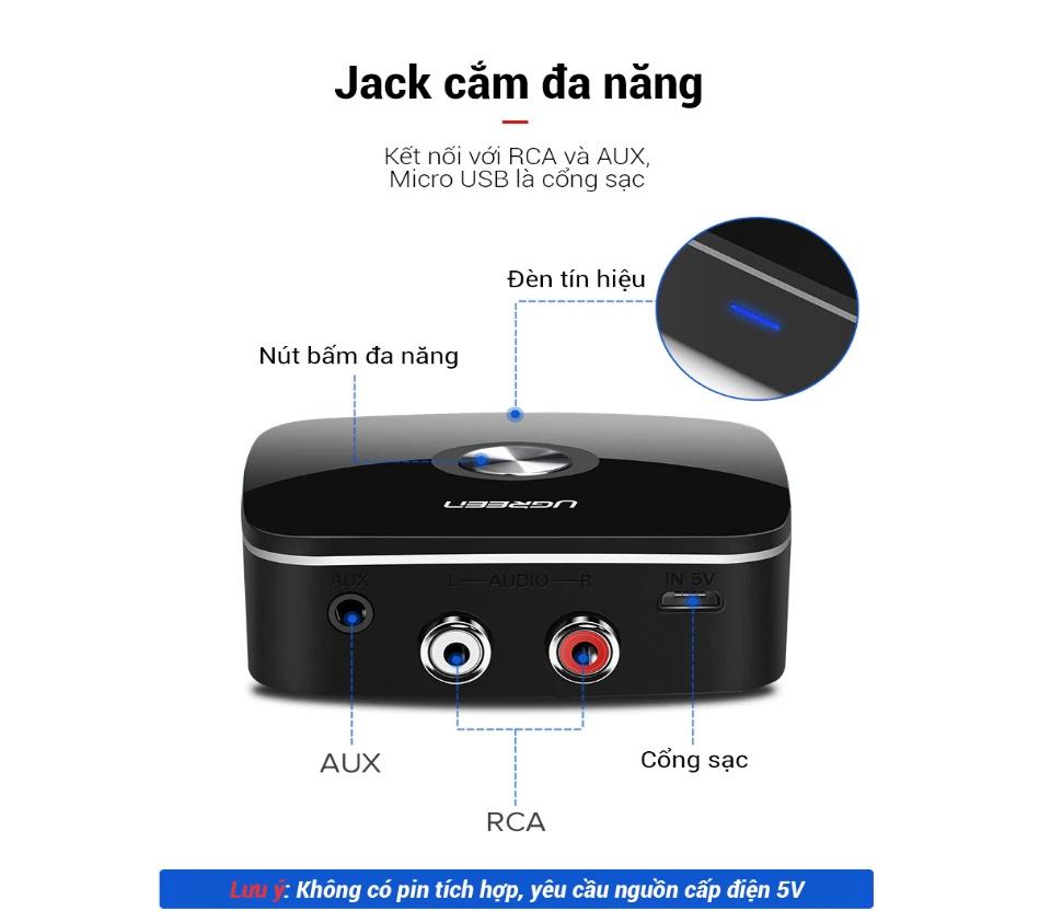 Thiết bị nhận Bluetooth 5.0 UGREEN CM106