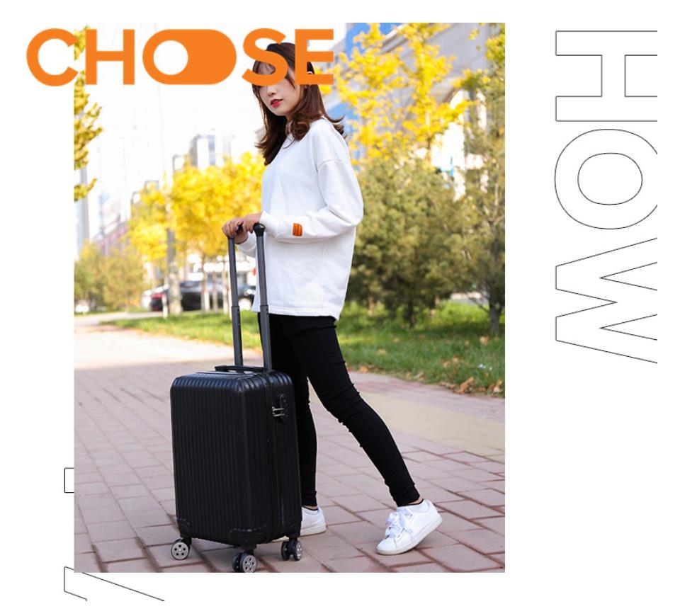 Vali 24 INCH Thời Trang Mới 2021 Vân Sọc Nhựa PC ABS Bền Bỉ V01 thumbnail