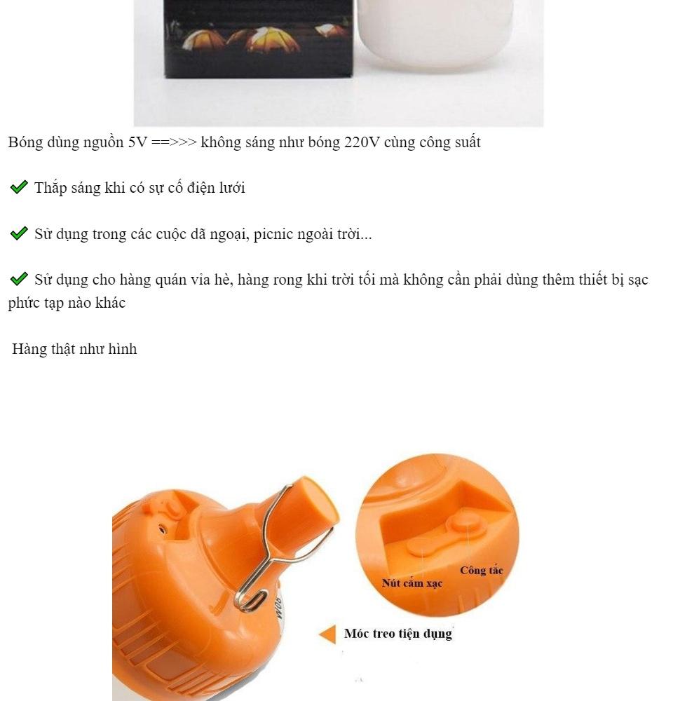 40-60-100w] Bóng đèn led- Bóng đèn led sạc tích điện -Bóng đèn tích điện -