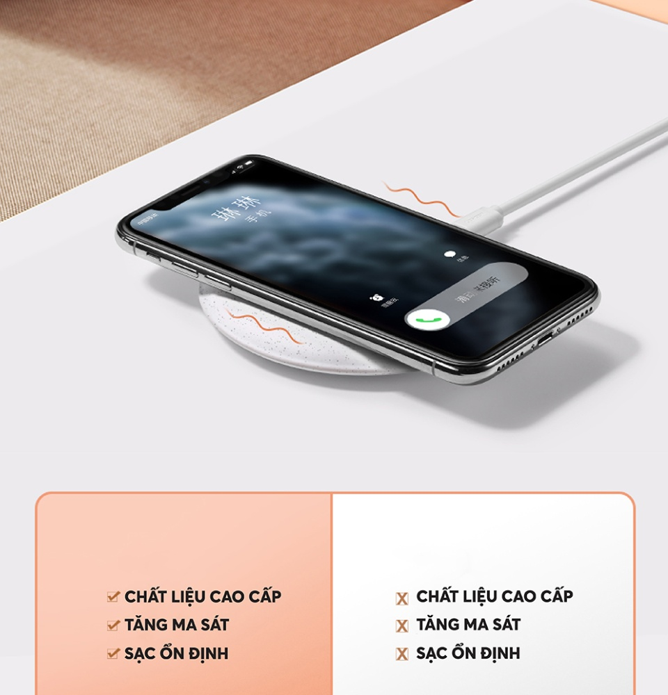 Sạc không dây công nghệ Qi 10W, sử dụng cho các dòng điện thoại iPhone (Xs Max, XR, X, 10, 8 Plus, 8) Samsung (Galaxy S10, S9 Plus, Note 9, Note 8, S8 Plus, S7 Edge, S6 Edge, Note 5) Xiaomi (Mi9 LG G7 ThinQ UGREEN CD186 60112