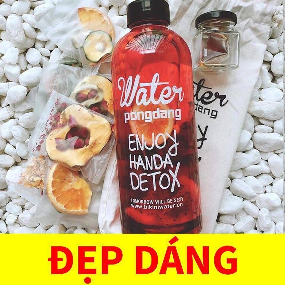 Hộp 30 Set Gói Trà Detox hoa quả sấy khô giảm cân, DETOX KOREA (ảnh thật) tặng kèm bình nhựa 1000ml - PKCB 6