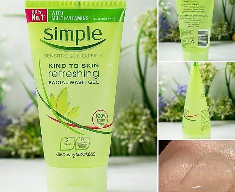 Kết quả hình ảnh cho Simple refreshing facial wash gel