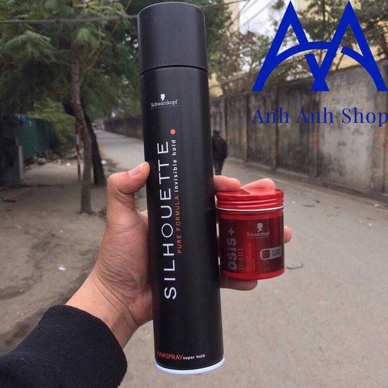 Combo Gôm Silhouette và Sáp Osis Thrill 3 Texture Gum 1