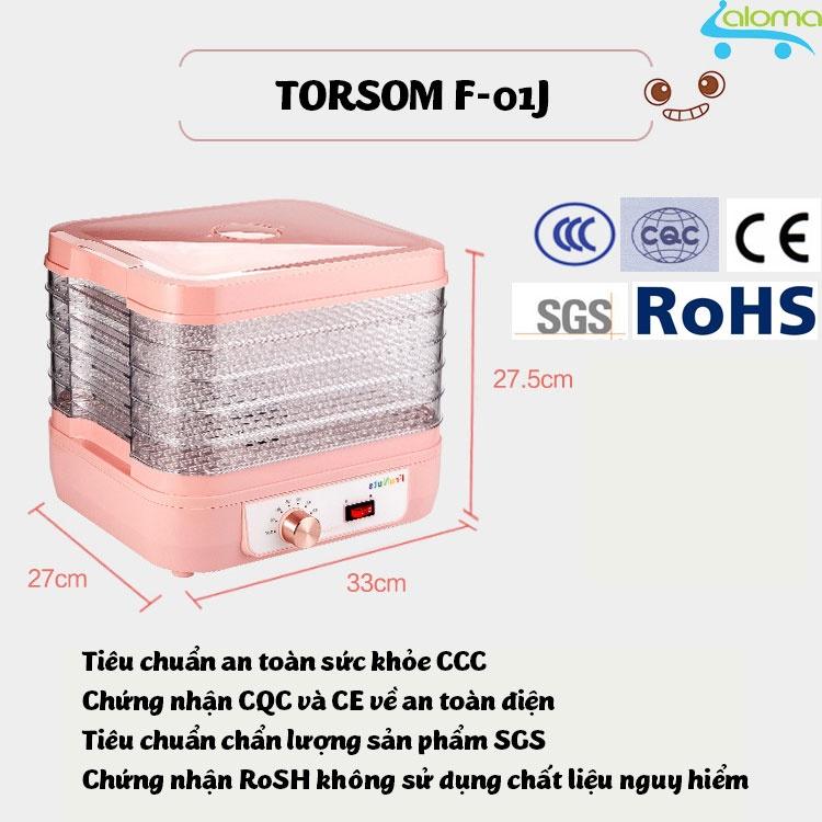 Máy sấy hoa quả thịt thực phẩm 5 tầng TORSOM F-01J gia dụng aloma