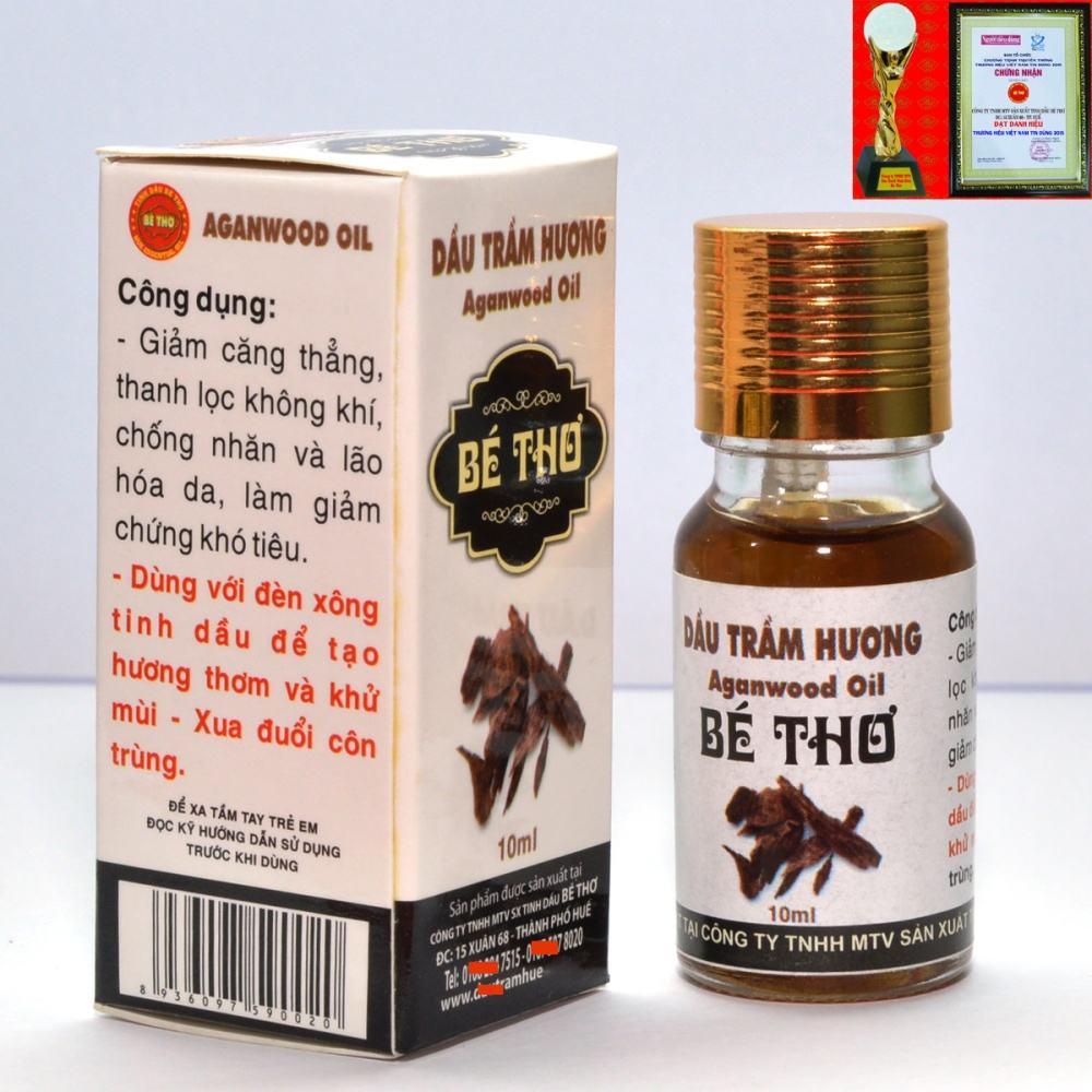 Tinh dầu thiên nhiên trầm hương 10ml hiệu Bé Thơ